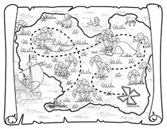 pirate treasure map coloring pages Printables Pinterest