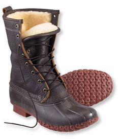 When the weather is at its worst, your footwear needs to be at its best. Thus, a boot with all the elements to get you from point A to point B — L.L.Bean's bison shearling-lined version ($239) is waterproof, insulated, and made with a rubber chain-tread sole.