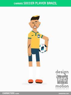CHAR055_SoccerPlayerBrazil. Part of D&M Character Kit.