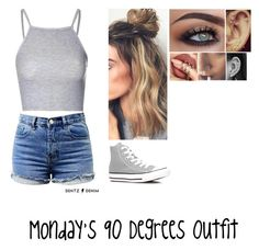 """""""Happy Labor Day"""" by adrianlane17 ❤ liked on Polyvore featuring Glamorous and Converse"""