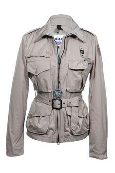 Blauer USA | Lässige Übergangs- Regenjacke mit Taillengürtel, Gr. L | Blauer USA Jacke | mymint-shop.com | Ihr Online Shop für Secondhand / ...