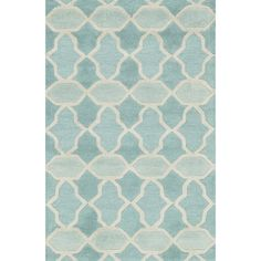 Hand-tufted Tatum Aqua Wool Rug (3'6 x 5'6) - Overstock™ Shopping - Great Deals on Alexander Home 3x5 - 4x6 Rugs