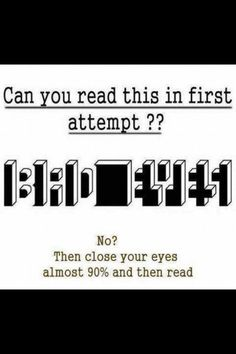 I read it on my first try.