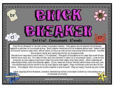 Brick Breaker: Initial Consonant Blends Worksheet