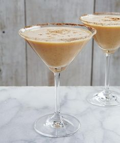 Stay away from those cloying pumpkin-flavored liquors—this drink uses pure pumpkin puree, with vodka for the kick. Get the recipe for Pumpkin Martini .