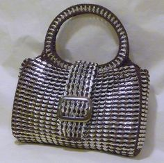 Pop Tab Purse  Chocolate Brown  Large by DianeKDesigns on Etsy, $120.00