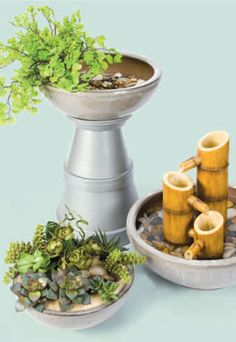 Turn bowls into cute DIY garden planters with this easy tutorial!