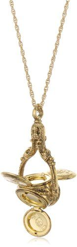 1928 Jewelry Vintage Inspired Rotating Trio Long Locket Necklace