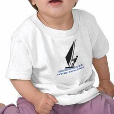 Future windsurfer black, blue windsurfing custom Infant T-Shirt