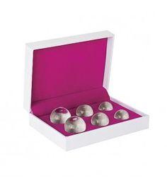 set 6 bolas chinas ben wa balls distinto peso cristal