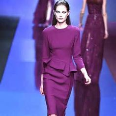 New 2014 Runway Women's Purple Sexy Bodycon Career OL Ruffles Dress More www.aliexpress.com