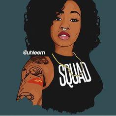 Love this dope illustration by @uhleem thnx babe