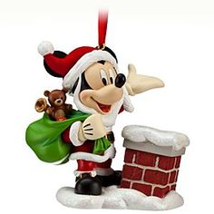 Santa Mickey Mouse Sketchbook Ornament