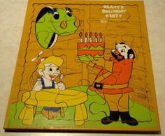 Vintage Bob Clampett Beany Cecil Wooden Puzzle - 1961- Estate - Playskool
