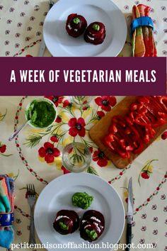 A Week of Vegetarian Meals