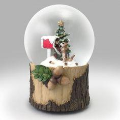 Chipmunk Mail Snow Globe Christmas Scenery, Christmas Snow Globes, All Things Christmas, Christmas Tree Decorations, Xmas, Snow Globe Kit, Diy Snow Globe, Let It Snow, Glass Globe