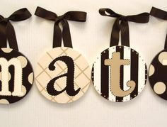 Cute, easy idea for kids rooms or teen rooms! Even bathroom, laundry, etc. Bathroom Kids, Bathroom Laundry, Crafts For Kids, Arts And Crafts, Diy Crafts, Teen Rooms, Kids Rooms, Letter Wreath, Bathroom Remodel Cost