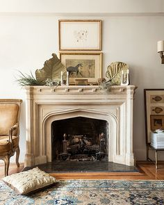 5 Crazy Ideas Can Change Your Life: Fireplace Insert Bathroom limestone fireplace mantels.Simple Fireplace Life old fireplace christmas. Limestone Fireplace, Faux Fireplace, Marble Fireplaces, Fireplace Surrounds, Fireplace Design, Fireplace Ideas, Fireplace Kitchen, Victorian Fireplace, Mantel Ideas