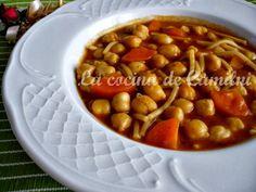 La cocina de Camilni: Potaje de fideos y garbanzos