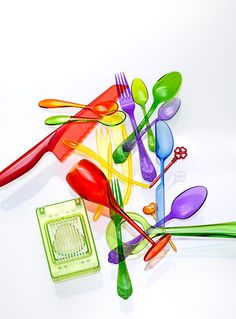 So colorfull! Could print that for my kitchen! Plastic silverware is not that attractive in person though. [LUNDLUND : : : PÅL ALLAN]