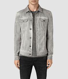 Hommes Orbital Denim Jacket (Grey) -