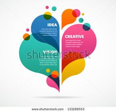 abstract colorful background with text space - stock vector