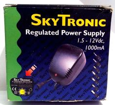 SKYTRONIC Regulated Power Supply. 1.5 - 12Vdc, 1000mA. + SEVEN voltages + adapt Electrical Supplies, Gadgets, Ebay, Gadget