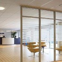 2m Frost Privacy Window Film Static Striped Glass Self Adhesive Film Deco  Specification: Materia