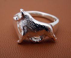 Sterling Silver Schipperke Ring