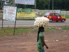 Carrying things on your head in Ghana