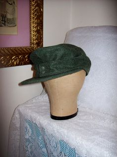 Vintage 1950s Men's Winter Wool Military Hat West by SusOriginals