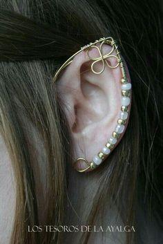 Elven ear - ear cuff - elvish earring - elf ear statement j .- Elven ear – ear cuff – elvish earring – elf ear- statement jewelry- statement jewelry Elven Ear Ear Cuff Elven Earring Elf Ear by Ayalga - Ear Jewelry, Jewelry Crafts, Jewelery, Jewelry Accessories, Handmade Jewelry, Jewelry Design, Jewelry Making, Elf Ear Cuff, Ear Cuffs