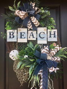 Coastal Wreath-Nautical Wreath-Anchor-Boating Decor-Beach Wreath-Patriotic Wreath-Americana Wreath-Nautical Decoration-Annie Gray-