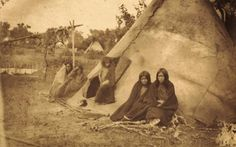 Southern Arapaho family near Camp Supply in Indian Territory - 1870