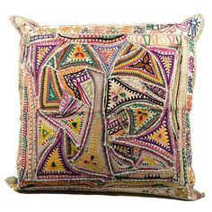 Triangle Motif Jaislmer Pillow (24x24)