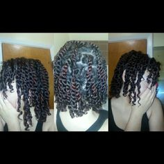 Protective hair styling twist out for the day