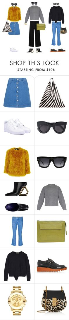 """#14"" by jennybecker on Polyvore featuring STELLA McCARTNEY, MM6 Maison Margiela, NIKE, CÉLINE, Topshop, Acne Studios, Movado and Chloé"