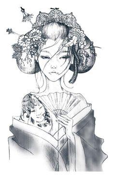 Восточная красавица макияж красоты японская девушка 3D водонепроницаемый временные сексуальные наклейки татуировки купить на AliExpress