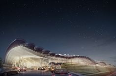 rogers stirk harbour + partners beats foster and UNStudio to build taiwan airport terminal