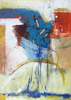 Anne Marchand Painting-Abstract-Gallery 555dc    : Blue Veil