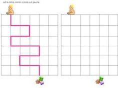 Kindergarten movimento foglio di matematica nella griglia