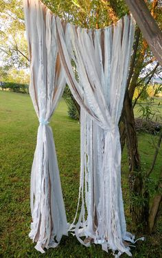 Wedding Backdrop Garland Garden Wedding Outdoor Wedding Whimsical Shabby Chic - Pick Your Color