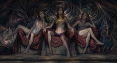 [The Three Sisters Blind by Noah Bradley]