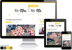 Custom Blog Design | His Mrs Her Mr  | ARCHIVED DESIGN | View recent projects at www.vivalaviolet.com/portfolio