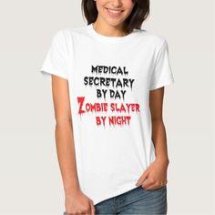 Medical Secretary by Day Zombie Slayer by Night T Shirt, Hoodie Sweatshirt