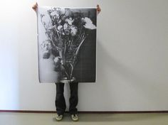Photocopied flowers - Nienke Sybrandy - BijzonderMOOI* Dutch design online