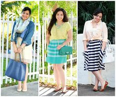 spring outfits | #stripes #pastels
