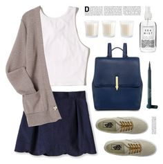 """""""Outfit of the day"""" by deepwinter ❤ liked on Polyvore featuring Hollister Co., Vans, Karen Walker, Laura Geller and Herbivore"""