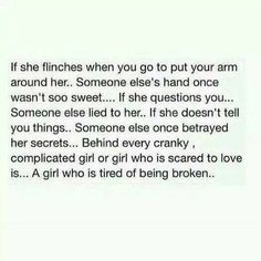 Behind every cranky complicated girl or girl who is scared to love is a girl who is tired of being broken Meaningful Quotes, Inspirational Quotes, Motivational Quotes, True Quotes, Funny Quotes, Favorite Quotes, Best Quotes, Scared To Love, My Demons