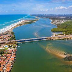Essa é a Ponte Divaldo Suruagy no litoral sul de Alagoas. Para quem for para as praias do Francês, Barra de São Miguel, Gunga passará por esse lindo lugar. Foto: @wesleymenegari